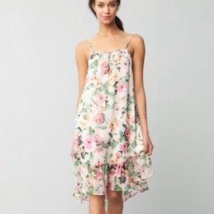 Charles Henry Ruffle Midi Dress