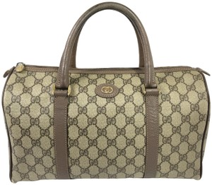 Gucci Boston Boston Beige Speedy Signature Vintage Satchel
