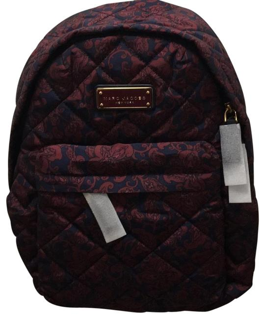 Marc Jacobs Quilted Mini Paisley Peacoat Multi Nylon Backpack Marc Jacobs Quilted Mini Paisley Peacoat Multi Nylon Backpack Image 1