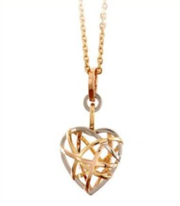 chopard Chopard Rose Gold Guli Large Pendant with Chain Necklace