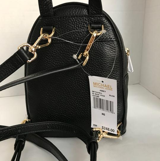 488ef29a7963 Michael Kors Abbey Extra Small Xs Black Leather Backpack - Tradesy