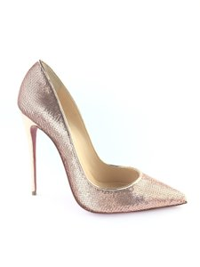 46b334e50bc3 Christian Louboutin Sequin So Kate Pigalle Rose gold Pumps