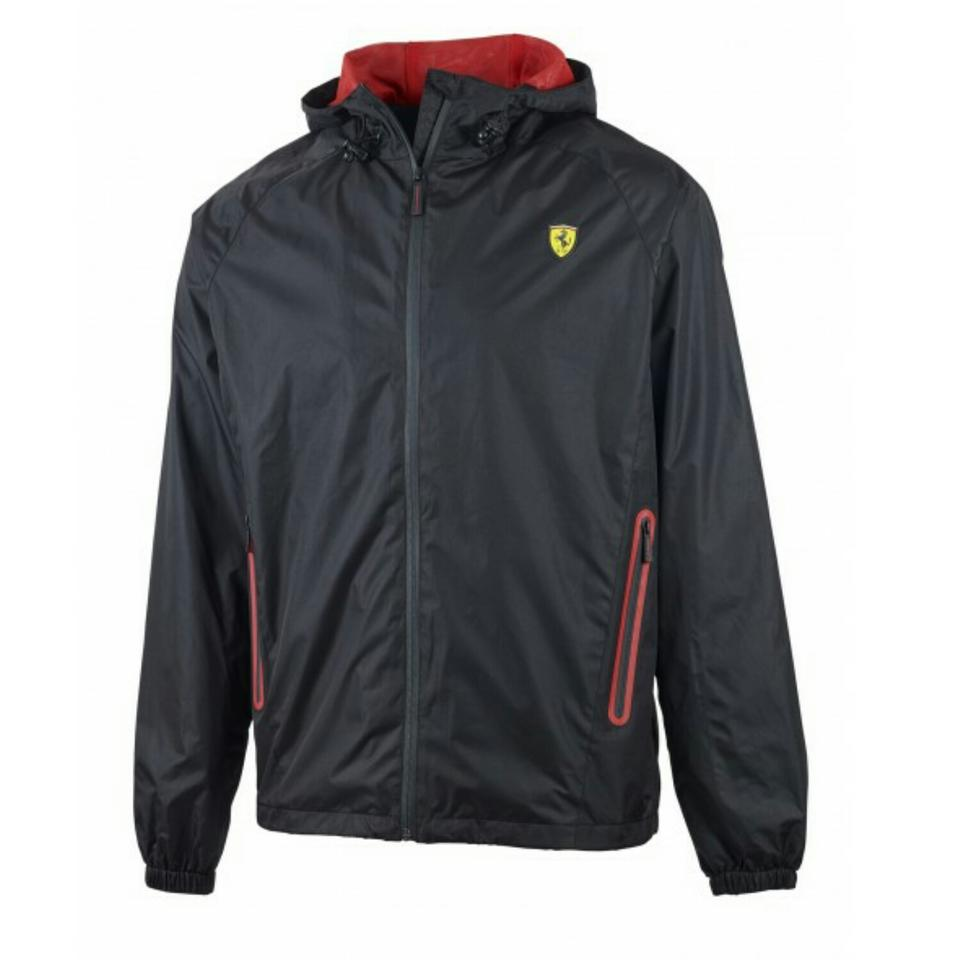 Ferrari Black (Red Interior) Lightweight Xl Waterproof Windbreaker ... c0e112bb83f7b
