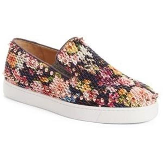 Item - Multicolor Pik Boat Quilted Floral Tissu Spike Studded Sneaker Flats Size EU 39.5 (Approx. US 9.5) Regular (M, B)