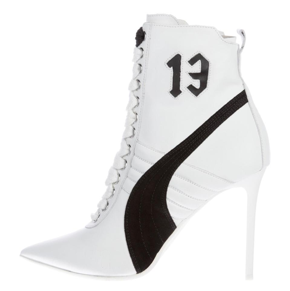 050589567a82 FENTY PUMA by Rihanna White 2016 Leather Pointed-toe Boots Booties ...