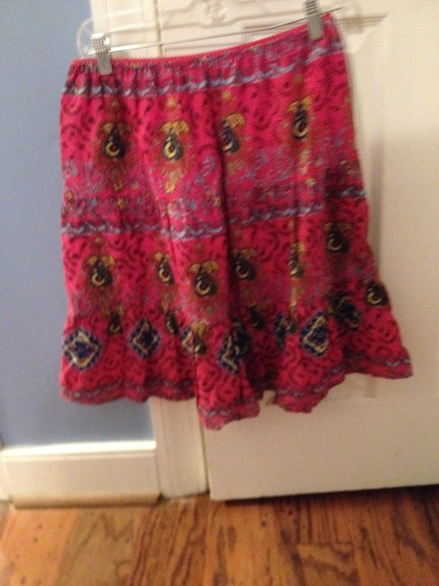 Raviya Summer Skirt HOT PINK WITH GRAPHIC BACKGROUND