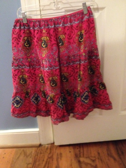 Raviya Summer S Skirt HOT PINK WITH GRAPHIC BACKGROUND