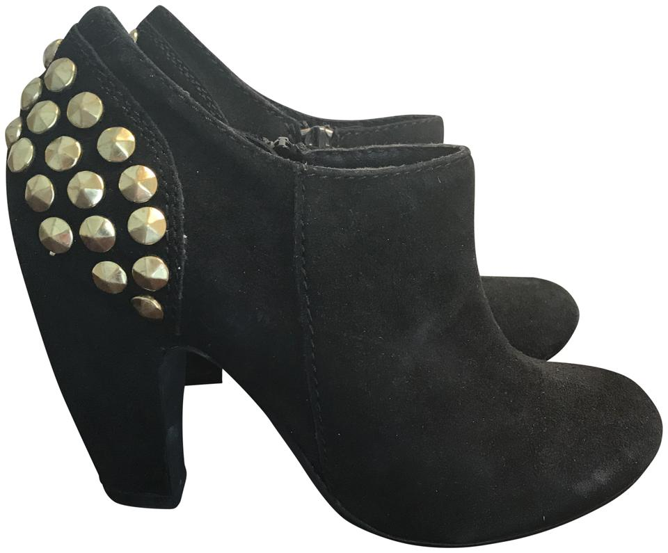 79116dd0a5f Steve Madden Black Suede Studded Boots/Booties Size US 6 Regular (M, B)