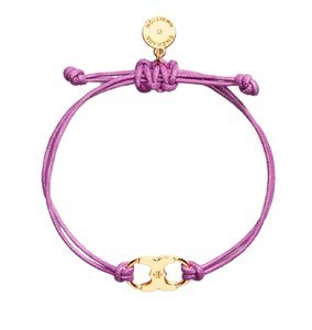Tory Burch New Tory Burch Embrace Ambition Silk Gemini Bracelet Purple