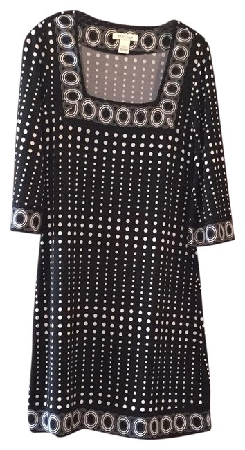 Item - Black-and-white And Mid-length Work/Office Dress Size 6 (S)