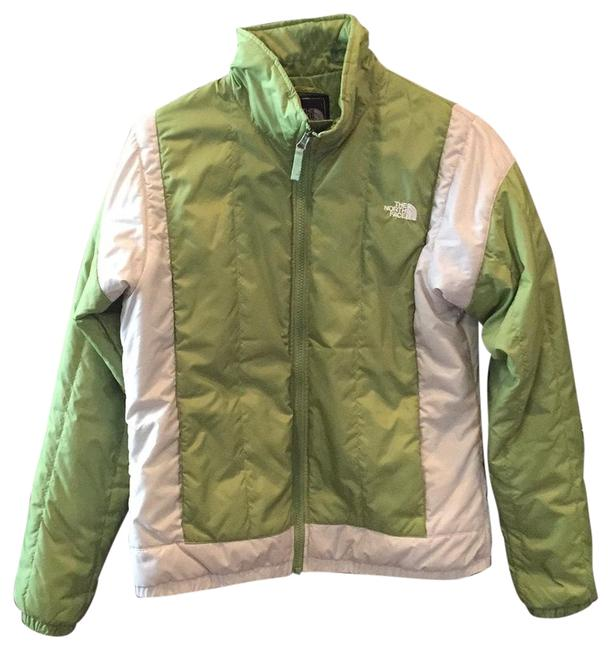 Item - Green and Khaki Waterproof Coat Activewear Size 8 (M)