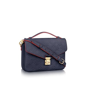 Louis Vuitton Crossbody Metis Monogram Empreinte Satchel in Blue