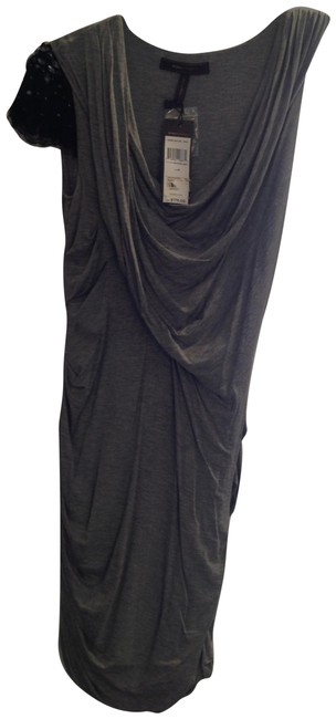 Item - Grey Bcbg Mid-length Night Out Dress Size 8 (M)