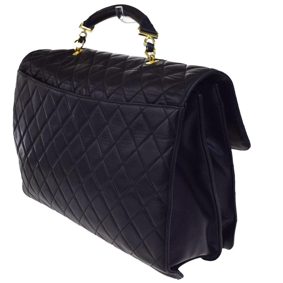 424cf6acff23 Chanel Cc Quilted Business Chain Hand Italy 667ba023 Black Leather  Messenger Bag