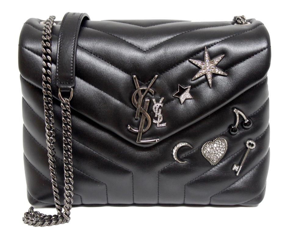 33895affcb75 Saint Laurent Monogram Loulou New Small Charm-embellished Black Leather  Cross Body Bag - Tradesy