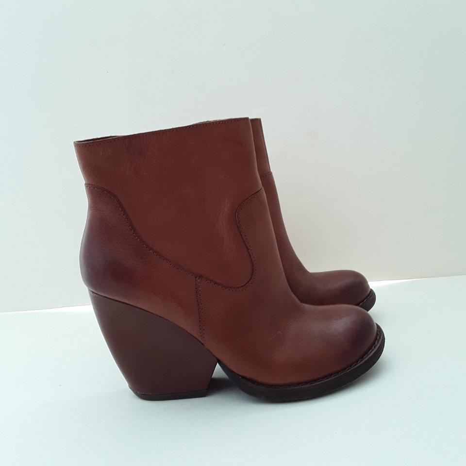 e07bd2e19af1 Kork-Ease Cognac Michelle Chunky Heel Ankle Boots Booties Size US ...