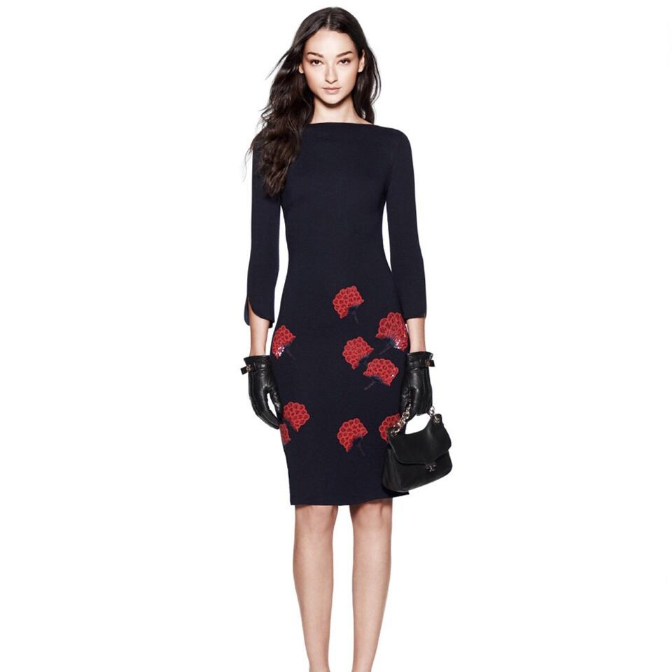 Tory burch etta embellished floral navyred mid length cocktail tory burch dress ombrellifo Choice Image