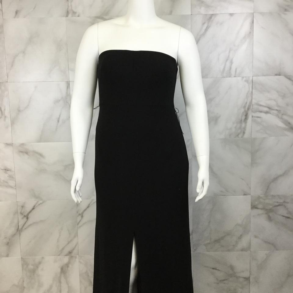 Halston Black Heritage Strapless Evening Gown Long Formal Dress Size ...