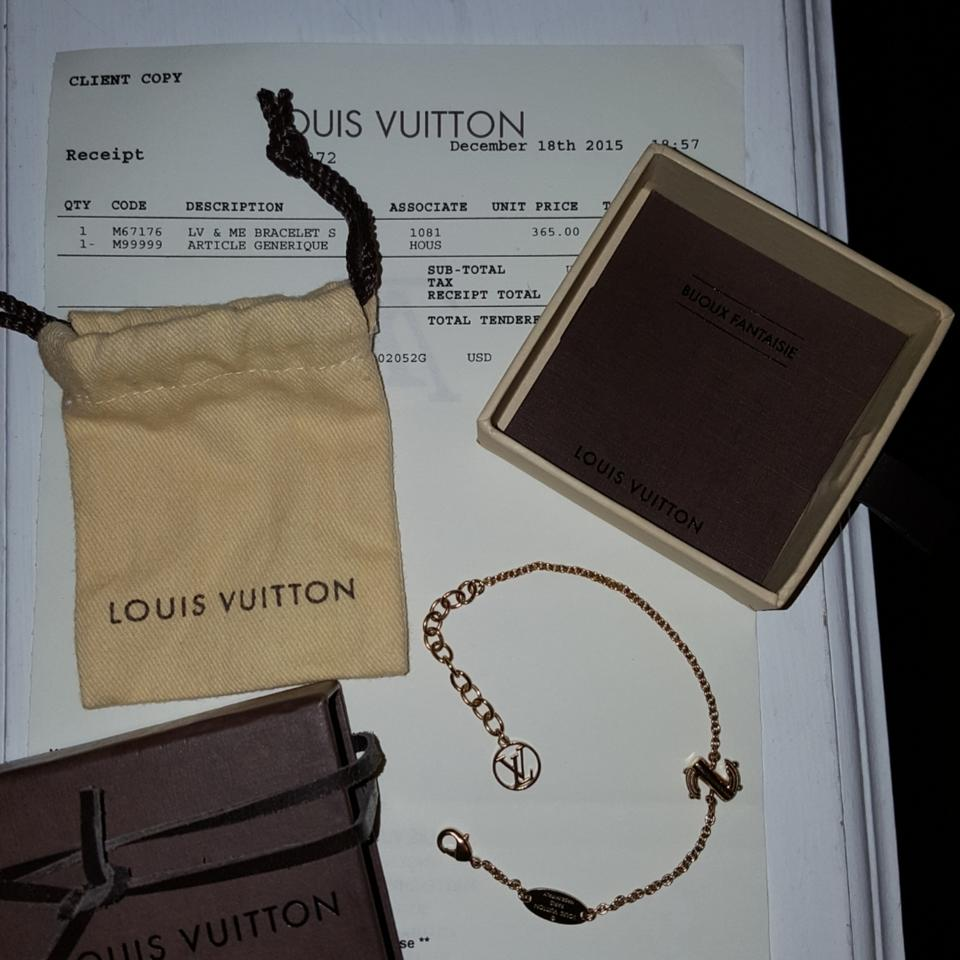7352379aff74 Louis Vuitton Gold Lv and Me Bracelet - Tradesy