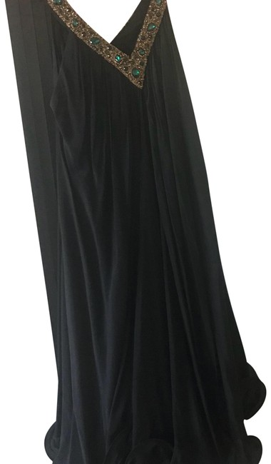 Item - Black Sleeveless Mid-length Cocktail Dress Size OS (one size)