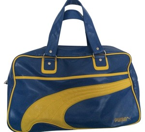Puma Blue And Yellow Travel Bag