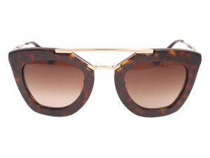 Prada PRADA TORTOISESHELL CAT EYE AVIATOR SUNGLASSES