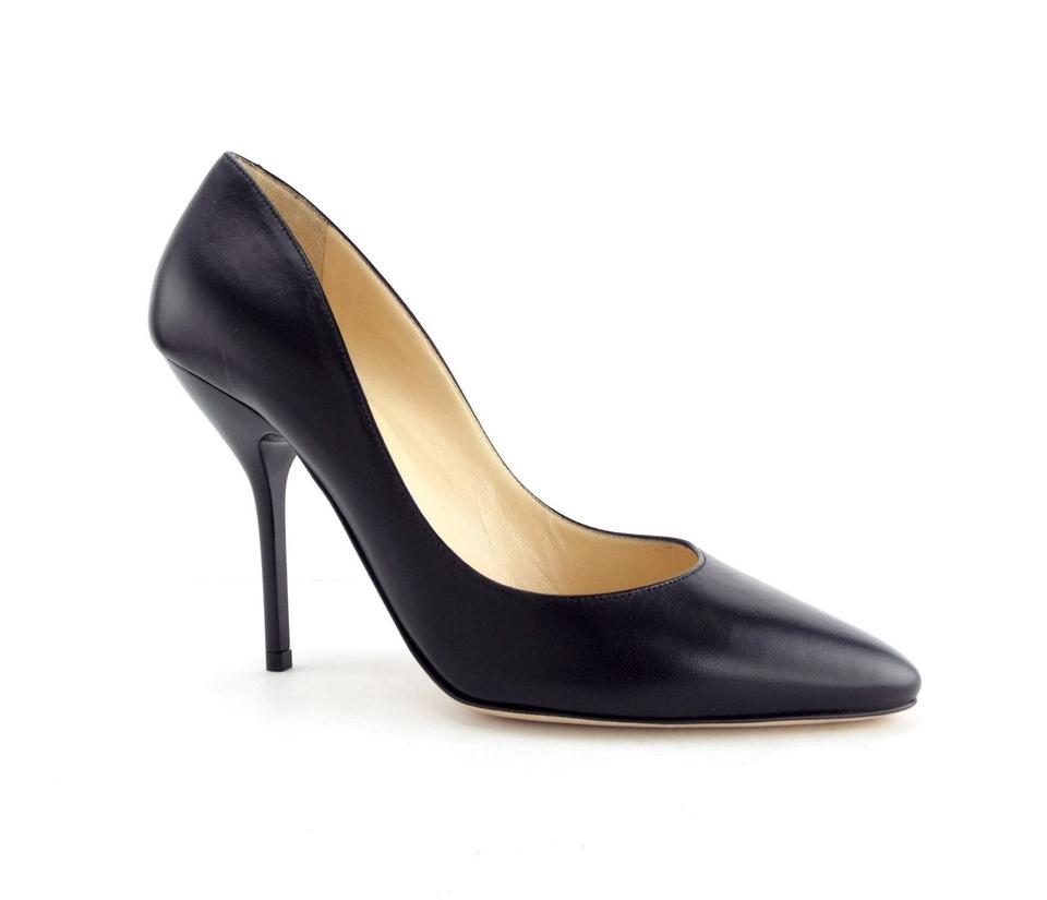 097410ca10 Jimmy Choo Black Leather Almond Toe Classic Pumps Size EU 36 (Approx. US 6)  Regular (M, B) - Tradesy