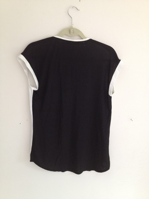 Adrianna Papell Silk Viscose Top white and black