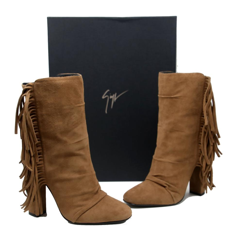 b6a57db3d4a11 Giuseppe Zanotti Jlo Tassels Almond Toe Hare Leather Western Brown Boots  Image 0 ...
