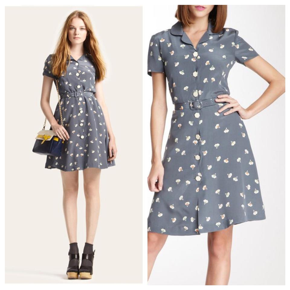 Orla Kiely Short Dress Gray On Tradesy