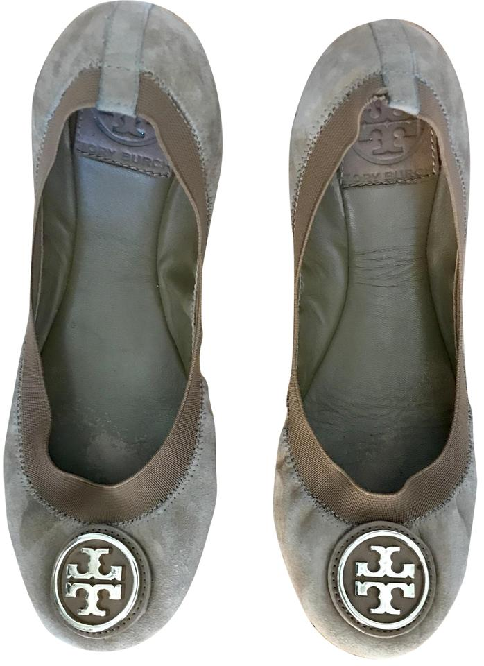 3755cd4a2086 Tory Burch Brown Caroline 2 Ballet Suede Flats Size US 7 Regular (M ...