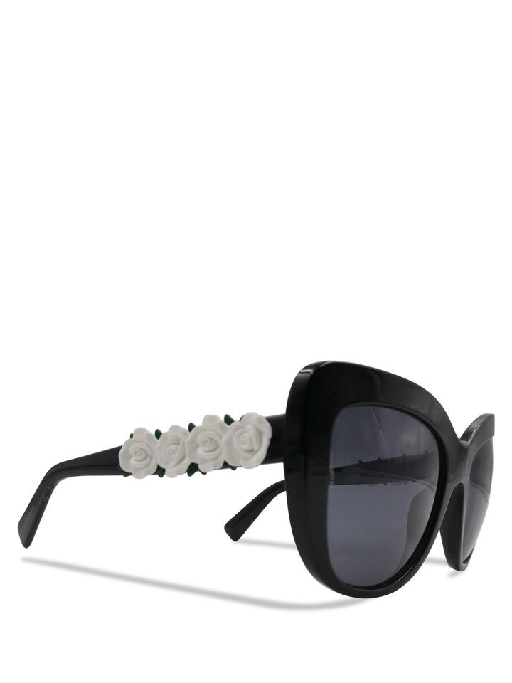 821ad36dcb Dolce   Gabbana Butterfly Sunglasses White