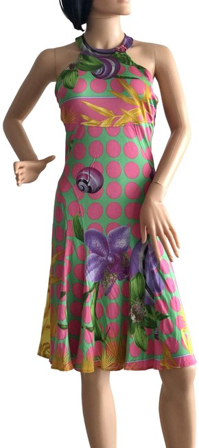 Item - Multicolor Vintage Mid-length Night Out Dress Size 8 (M)