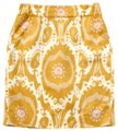 J.Crew Linen Print Above The Knee Pencil Fitted Skirt Gold
