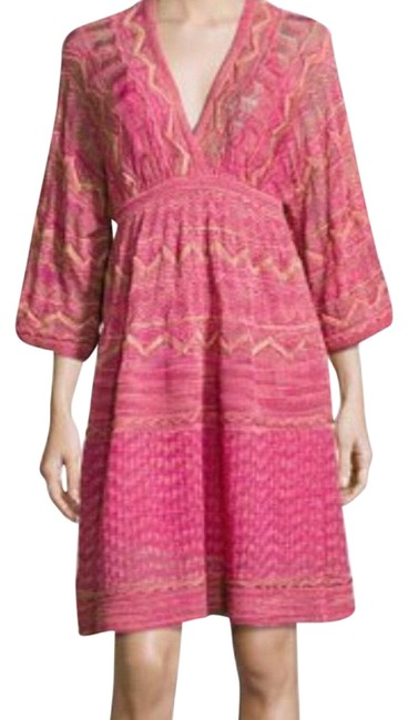 Item - Pink Hot Mid-length Cocktail Dress Size 6 (S)