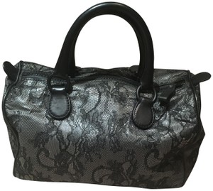 Valentino Lace Satchel in Black and Grey