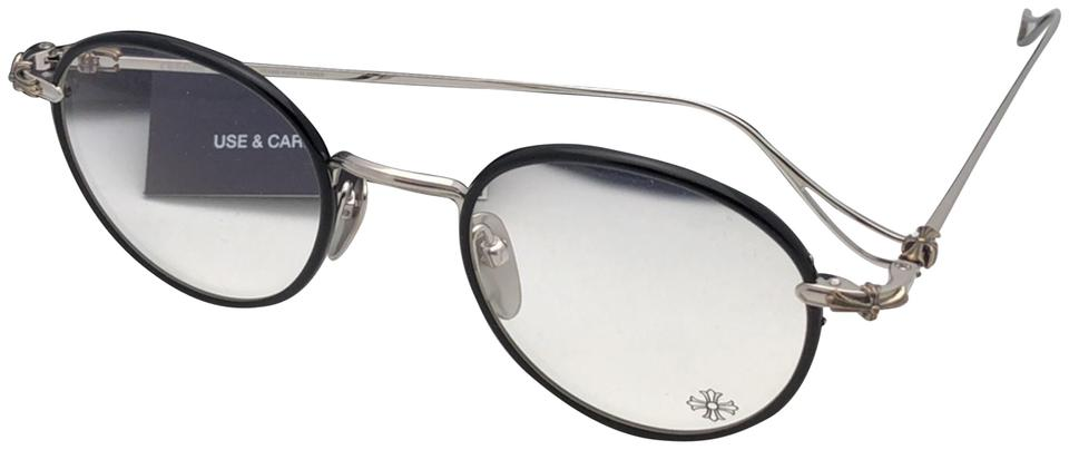 a762d571e1 Chrome Hearts New CHROME HEARTS Eyeglasses SINNERGASM BK-SS 48-22 Black    Silver ...
