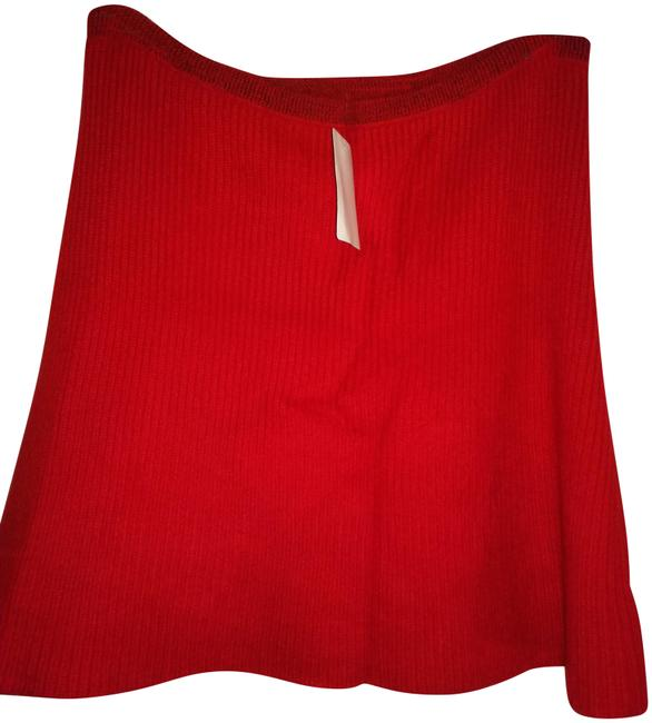 Item - Red Cashmere Knit Skirt Size 10 (M, 31)