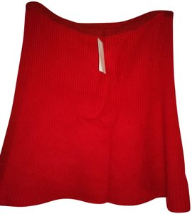 The Elder Statesman Mini Skirt Red