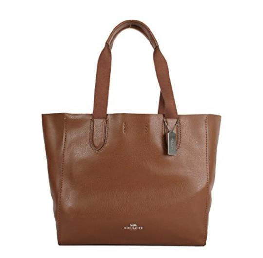 Coach Saddle Leather Derby Large Tote Tradesy