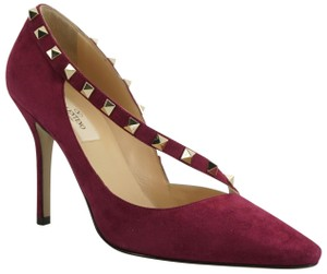 Valentino Rockstud Dorsay 8011602 Purple Pumps