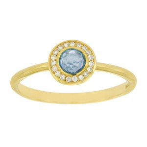 Ippolita Ippolita 18K Gold Lollipop Mini Blue Topaz & Diamond Ring