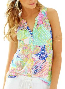 Lilly Pulitzer Top Pink, Green
