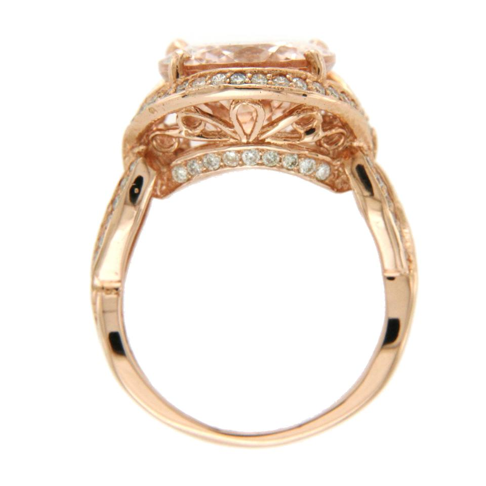 a77c14273 Luxo Jewelry 7.29 CT Morganite & 0.90 CT Diamonds in 14K Rose Gold Cocktail  Ring Image ...