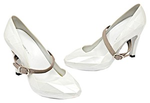 United Nude Uh Mary Jane Rubber White Pumps
