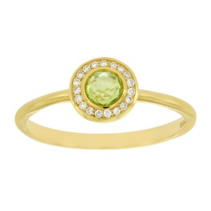 Ippolita 18K Gold Lollipop Mini Peridot & Diamond Ring Size