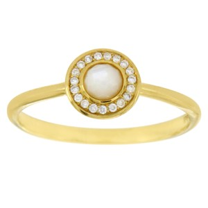 Ippolita Ippolita 18K Gold Lollipop Mini Mother of Pearl & Diamond Ring