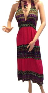 Fuschia Multi pattern Maxi Dress by Other