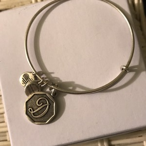 Alex and Ani silver initial D charm bracelet