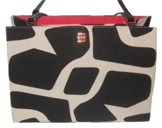 Kate Spade Abstract Links Collection Tote in Black & Red